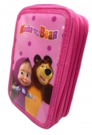 Astuccio 3 zip - Masha and the Bear