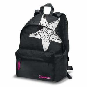 Zaino americano colourbook flash black - stella