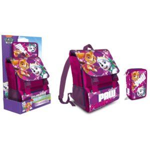 Schoolpack Paw Patrol Skye Zaino estensibile + astuccio 3zip