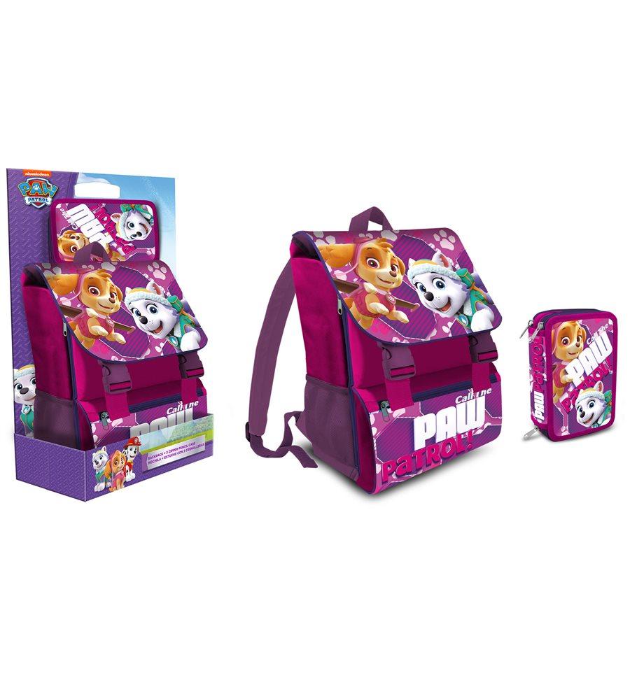 4261d898b0 Schoolpack Paw Patrol Skye Zaino estensibile + astuccio 3zip ...